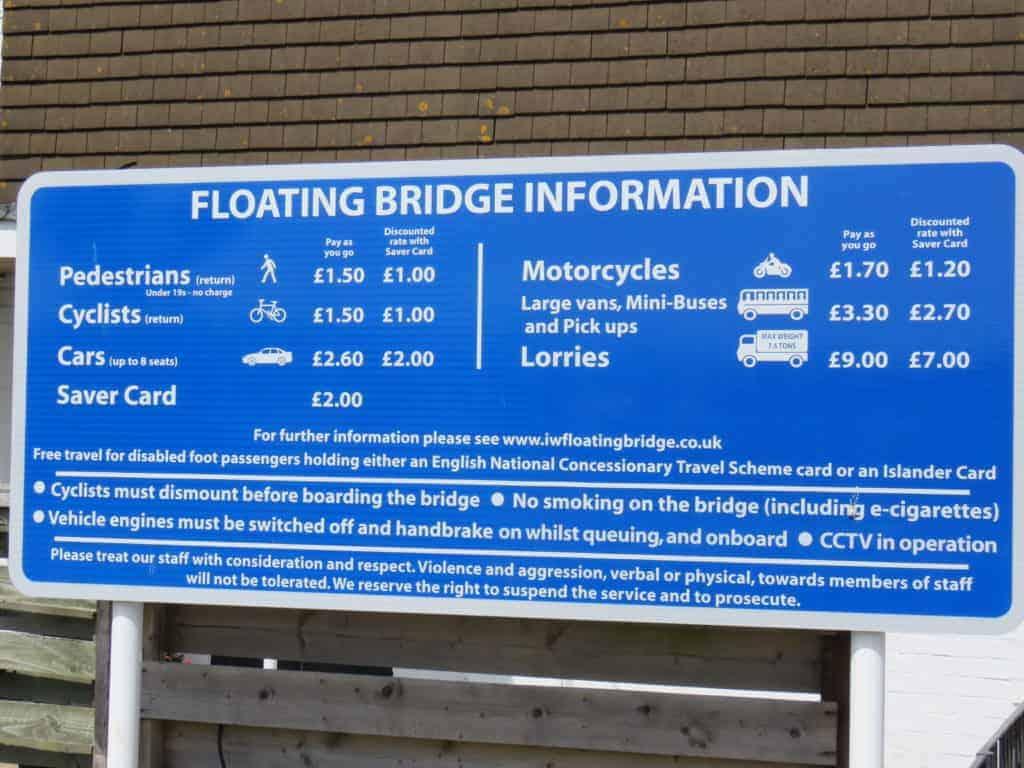 Floating bridge prices