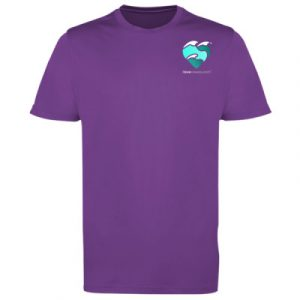 Men's t-shirt magenta magic small logo